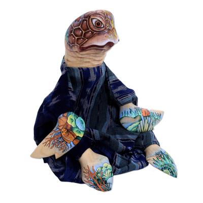 Handmade Wood Turtles Bookends