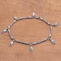 Sterling silver anklet, 'New Star' - Sterling silver anklet