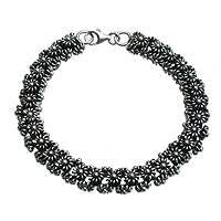 Sterling Silver Link Bracelet Daisy Chain (indonesia)
