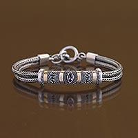 Gold plated amethyst bracelet,