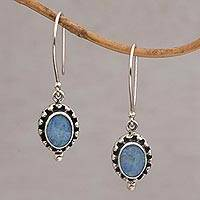 Opal dangle earrings, 'Fairy Princess' - Sterling Silver Opal Dangle Earrings