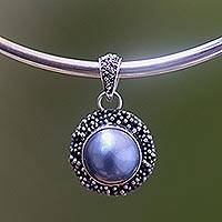 Pearl choker, 'Blue Moon Sands' (Indonesia)