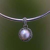 Pearl choker, 'White Moon Sands'