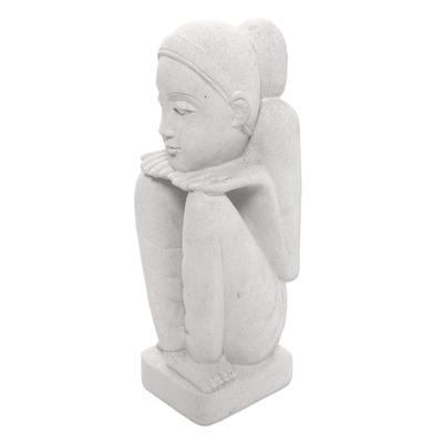 Handmade stone sculpture sensitive mood novica