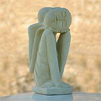 Sandstone sculpture, 'Lullaby' - Sandstone sculpture
