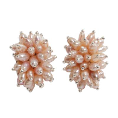 Bridal Sterling Silver Pearl Earrings