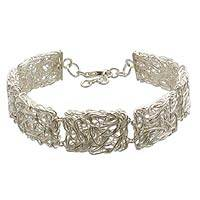 Sterling Silver Link Bracelet Energized (indonesia)