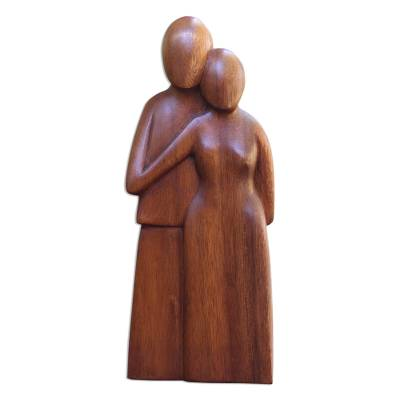 Handcrafted Romantic Wood Sculpture