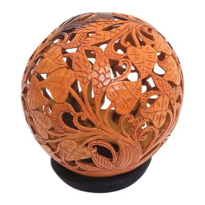 Hand Carved Coconut Shell Sculpture