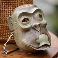 Wood mask, 'Cheeky Monkey'