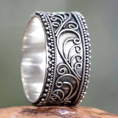 Sterling silver band ring, Classic Passion