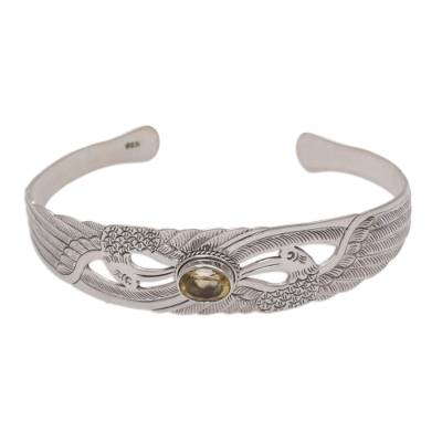 Citrine Sterling Silver Cuff Bracelet