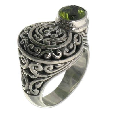 Handcrafted Sterling and Peridot Ring