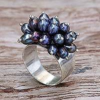 Pearl cluster ring, 'Grape Cluster' - Pearl cluster ring