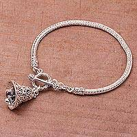 Featured review for Sterling silver bracelet, Bell Charm