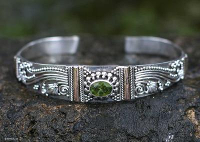 Peridot Sterling Silver Cuff Bracelet