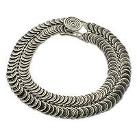 Sterling silver braid bracelet,