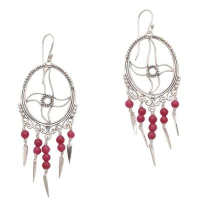 Agate chandelier earrings