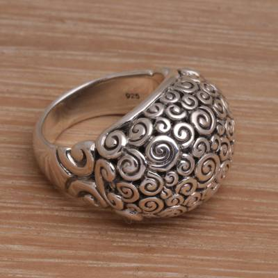 Artisan Jewelry Sterling Silver Domed Ring