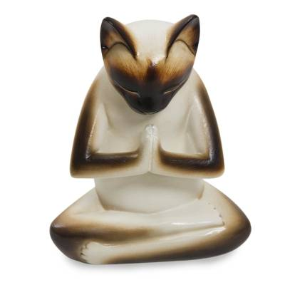 Original Hand Carved Cat Sculpture