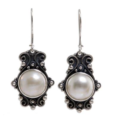 Handcrafted Bridal Pearl Earrings