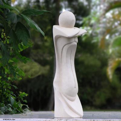 Sandstone statuette