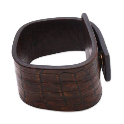 Indonesian Leather Wristband Bracelet