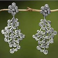 Sterling Silver Dangle Earrings Vineyard (indonesia)
