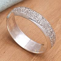 Men's sterling silver ring, 'Raw'
