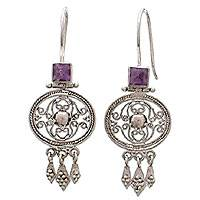 Amethyst dangle earrings,