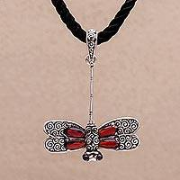 Garnet choker, 'Mysterious Dragonfly' (Indonesia)