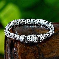 Mens sterling silver bracelet Wisdom (Indonesia)