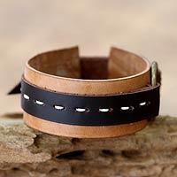 Leather bracelet,