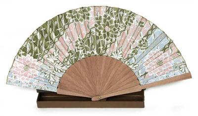 Floral Batik Silk Fan