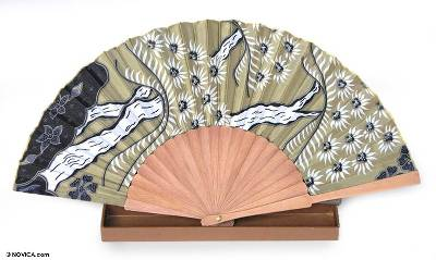 Handmade Silk Batik Fan