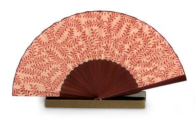 Indonesian Silk Patterned Fan