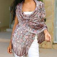 Featured review for Silk batik shawl, Euphoria