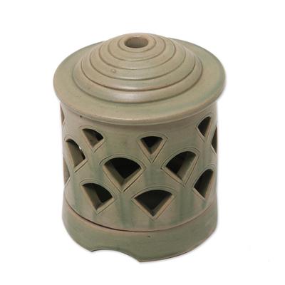 Ceramic candleholders (Pair)