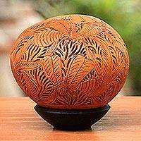 Coconut shell sculpture, 'Beehive Jive' - Coconut Shell Sculpture