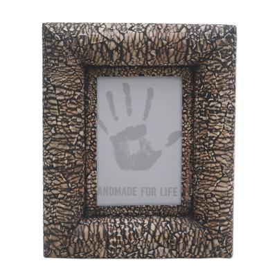 Wood and eggshell photo frame (4x6)