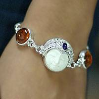 Featured review for Amber and amethyst bracelet, Prince