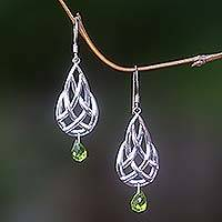 Sterling silver dangle earrings, 'Silver Charm' - Sterling silver dangle earrings