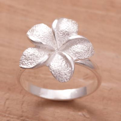 Hand Made Sterling Silver Flower Ring