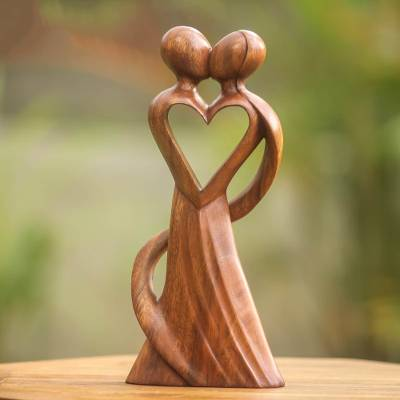 Wood statuette, My Heart and Yours