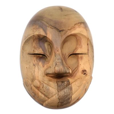 Hibiscus Wood Modern Mask