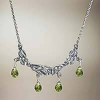Sterling silver pendant necklace, 'Rainforest'