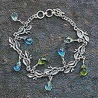 Sterling silver charm bracelet, Rainforest