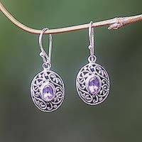 Amethyst dangle earrings, Wild Beauty