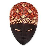 Wood batik mask,
