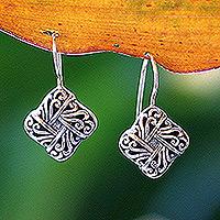 Sterling silver drop earrings, 'New Bali' - Handmade Sterling Silver Drop Earrings